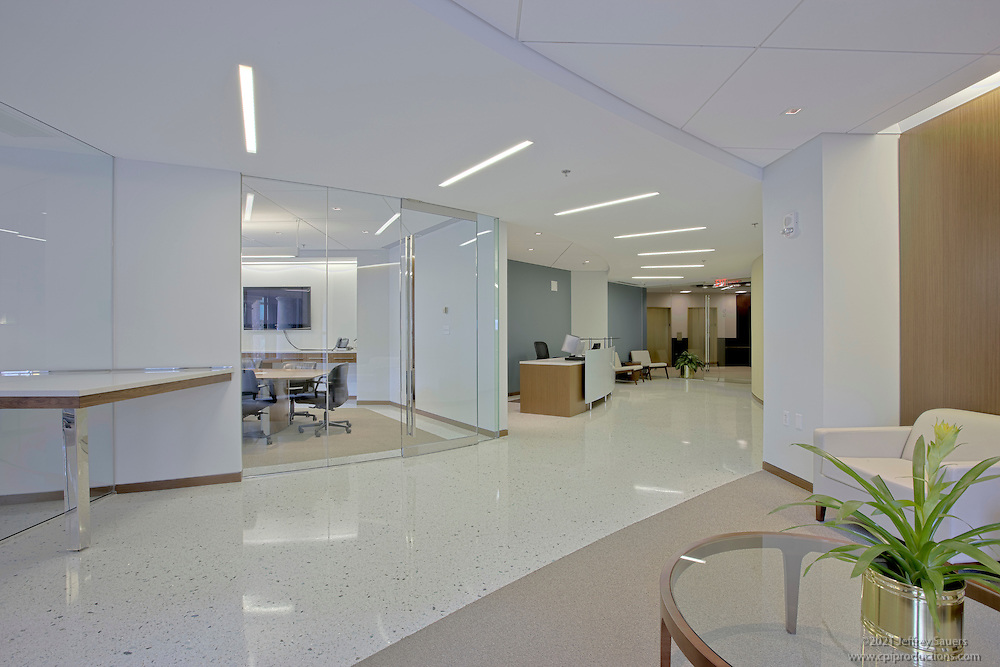 Commercial Interiors of  Norris, Tysse Lampley & Lakis formerly Mcguiness including lobby reception conference room, training room