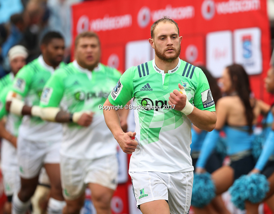 Matt Faddes of the Highlanders during the 2017 Super Rugby match between the Bulls and Highlanders at Loftus Stadium, Pretoria on 13 May 2017 ©Gavin Barker/BackpagePix / www.photosport.nz