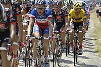 Sykkel<br /> Tour de France 2006<br /> Foto: Dppi/Digitalsport<br /> NORWAY ONLY<br />                     <br /> STAGE 14 - MONTELIMAR > GAP - TEAM CAISSE D'EPARGNE  - OSCAR PEREIRO SIO (ESP) / LEADER