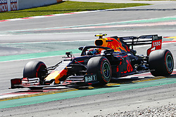 May 11, 2019 - Barcelona, Catalonia, Spain - Red Bull Racing Honda driver Pierre Gasly (10) of France during F1 Grand Prix qualifying celebrated at Circuit of Barcelona 11th May 2019 in Barcelona, Spain. (Credit Image: © Mikel Trigueros/NurPhoto via ZUMA Press)