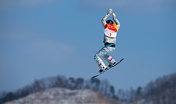 February 12, 2018 - Pyeongchang, South Korea - JAMIE ANDERSON of the USA on her gold medal winning run in the Womens Snowboard Slopestyle finals at Phoenix Snow Park at the Pyeongchang Winter Olympic Games.  Photo by Mark Reis, ZUMA Press/The Gazette (Credit Image: © Mark Reis via ZUMA Wire)
