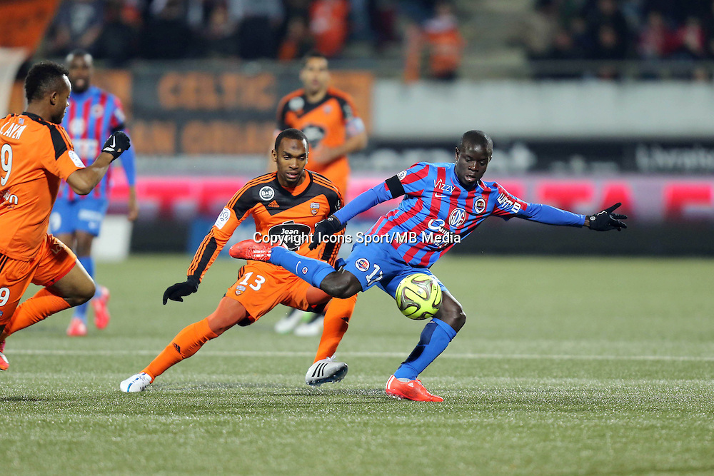 Ngolo KANTE / Raffidine ABDULLAH - 14.03.2015 - Lorient / Caen - 29eme journee de Ligue 1<br /> Photo : Vincent Michel / Icon Sport