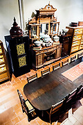 Dining room with ceramic collections at house of Chris Ong. Georgtown, Penang