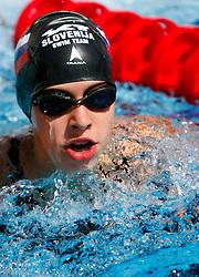 Tjasa Vozel at swimming competition of EYOF 2007 (European Youth Olympic Festival) in Belgrade, 21. - 28. July 2007,  Tasmajdan pool, Belgrade, Serbia. (Photo by Vid Ponikvar / Sportida)