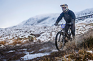 Rob Hinds creates a splash at the top of stage one of the Kinlochleven Enduro.