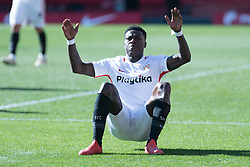 January 26, 2019 - Sevilla, Andalucia, Spain - Promes celebrate the 5th goal from Sevilla FC during the La Liga match between Sevilla FC v Levante UD at the Ramon Sanchez Pizjuan Stadium on January 26, 2019 in Sevilla, Spain  (Credit Image: © Javier MontañO/Pacific Press via ZUMA Wire)