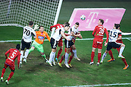 (L-R) Orlando Sa and Tomasz Jodlowiec and Michal Zyro and Legia's Inaki Astiz Ventura all from Legia fight for the ball during T-Mobile ExtraLeague soccer match between Legia Warsaw and Podbeskidzie Bielsko Biala in Warsaw, Poland.<br /> <br /> Poland, Warsaw, March 01, 2015<br /> <br /> Picture also available in RAW (NEF) or TIFF format on special request.<br /> <br /> For editorial use only. Any commercial or promotional use requires permission.<br /> <br /> Mandatory credit:<br /> Photo by © Adam Nurkiewicz / Mediasport