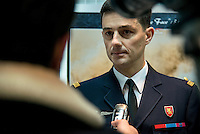 LYON, FRANCE - DECEMBER 10: Air Colonel Etienne Gourdain, commander of the Air Force base 942 attends the 40th anniversary of Base Aerienne 942 at the NATO base shelters the Headquarters Air Defense Command and the French National Centre for Air Operations on December 10, 2014 in Lyon, France. (Photo by Bruno Vigneron/Getty Images)