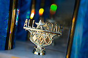 All Star trophies are photographed during Little League closing ceremonies at the Milpitas Sports Center on June 13, 2013. (Stan Olszewski/SOSKIphoto)