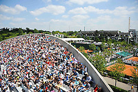 Court Suzanne LENGLEN / Court Philippe CHATRIER - 27.05.2015 - Jour 4 - Roland Garros 2015<br />