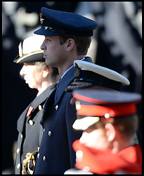 Prince William attends the annual Remembrance Sunday Service at the Cenotaph, Whitehall, London, England. Sunday, 10th November 2013. Picture by Andrew Parsons / i-Images