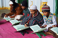 Inde, Bengale-Occidental, Ville de Hooghly-Chuchura, Medersa Imambara (ecole coranique) // India, West Bengal, Hooghly-Chuchura, Imambara Medersa (Koranic school)