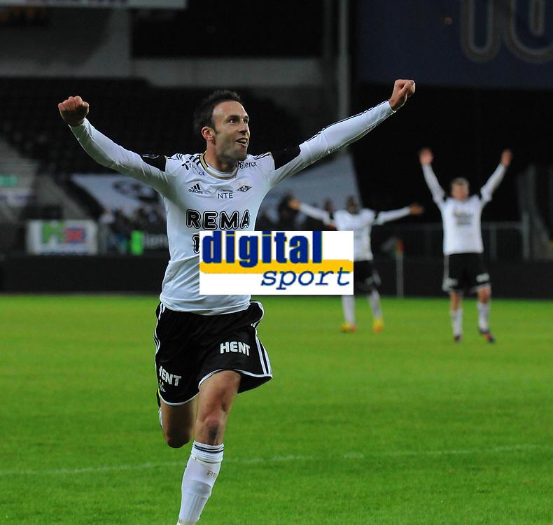 Fotball Tippeligaen Rosenborg - Brann<br /> 25 mars 2012<br /> Lerkendal Stadion, Trondheim<br /> <br /> <br /> Rade Prica jubler etter &aring; ha scoret 3-1 for Rosenborg<br /> <br /> <br /> <br /> <br /> Foto : Arve Johnsen, Digitalsport