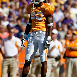 Oct 2, 2010; Baton Rouge, LA, USA; Tennessee Volunteers cornerback Prentiss Waggner (23) on the field during the first half against the LSU Tigers at Tiger Stadium.  Mandatory Credit: Derick E. Hingle