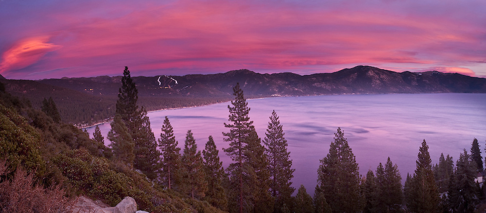 """Lake Tahoe Sunset 1"" - The sun sets over Lake Tahoe from the North Shore"