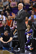 Oct 25, 2017; Phoenix, AZ, USA; Phoenix Suns head coach Jay Triano claps during the game against the Utah Jazz at Talking Stick Resort Arena. Mandatory Credit: Jennifer Stewart-USA TODAY Sports