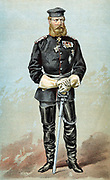 Frederick III (1831-88) Emperor of Germany 1888. Married Queen Victoria's eldest daughter Victoria. Cartoon from 'Vanity Fair' London 1870 the year he was made field marshal and the year before he became crown prince of Germany