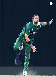 © Licensed to London News Pictures. 30/09/2012. Pakistani Shahid Afridi bowling during the T20 Cricket World super 8's match between India Vs Pakistan at the R Premadasa International Cricket Stadium, Colombo. Photo credit : Asanka Brendon Ratnayake/LNP