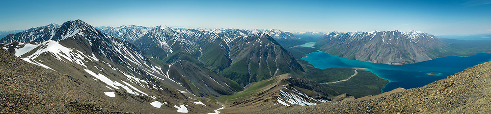 View from the top of King's Throne in Kluane National Park.