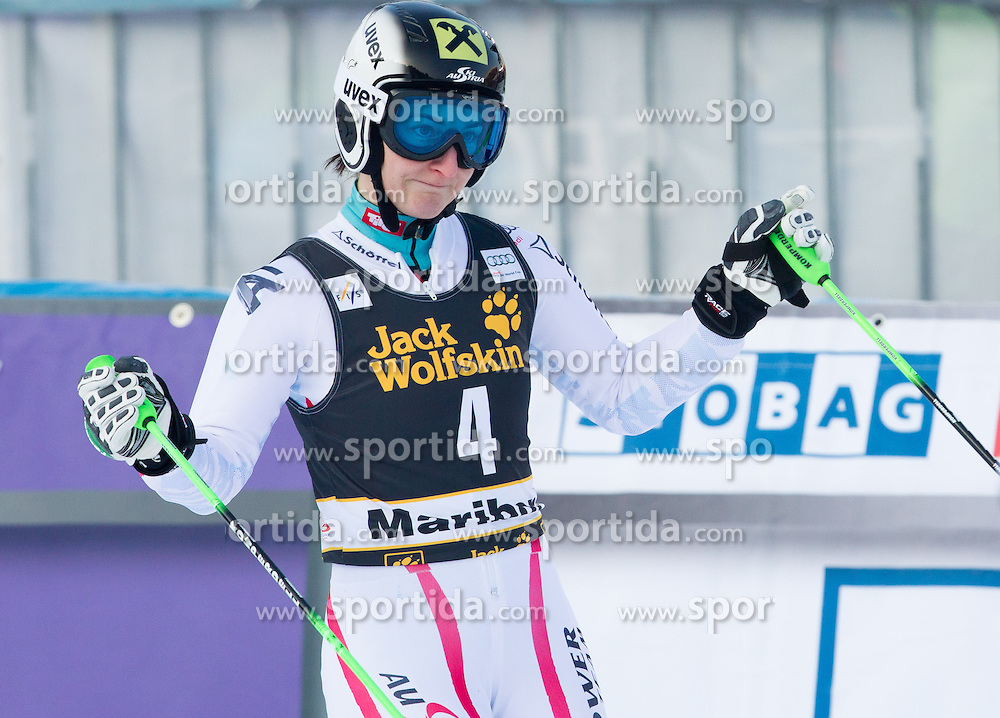 """ZETTEL Kathrin of Austria after she competed during the 2nd Run of FIS Alpine Ski World Cup 7th Ladies' Giant Slalom race named """"49th Golden Fox 2013"""", on January 26, 2013 in Mariborsko Pohorje, Maribor, Slovenia. (Photo By Vid Ponikvar / Sportida.com)"""
