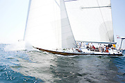 Heritage, 12 Meter Class, sailing in the Opera House Cup Regatta.