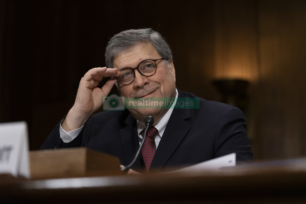 May 1, 2019 - Washington, District of Columbia, U.S. - Attorney General WILLIAM BARR testifies before the Senate Judiciary Committee shortly after reports reveal that Special Counsel ROBERT MUELLER objected to the conclusions of BARR's summary of MUELLER  report into Russian interference into the 2016 presidential election. May 1, 2019 (Credit Image: © Douglas Christian/ZUMA Wire)