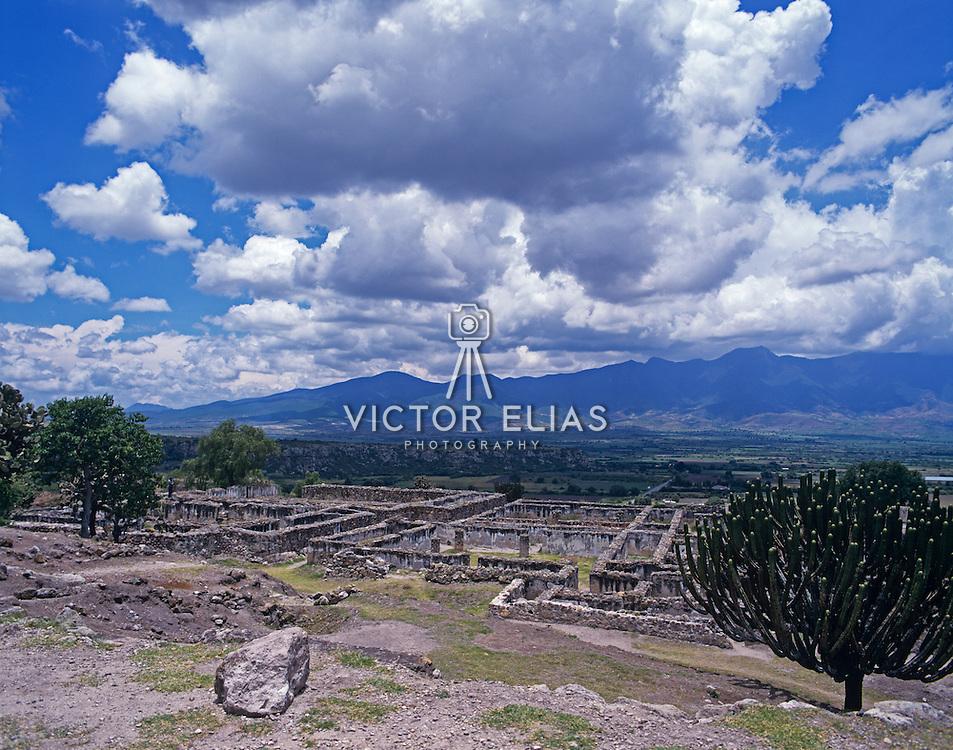 Mixtec ruins of Yagul  outside Oaxaca. Mexico.
