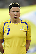 12 August 2008: Sara Larsson (SWE).  The women's Olympic team of Sweden defeated the women's Olympic soccer team of Canada 2-1 at Beijing Workers' Stadium in Beijing, China in a Group E round-robin match in the Women's Olympic Football competition.