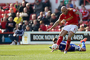 Nottingham Forest defender Michael Mancienne  during the Sky Bet Championship match between Nottingham Forest and Brentford at the City Ground, Nottingham, England on 2 April 2016. Photo by Chris Wynne.