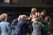 London, UK. 16.03.2017. &quot;Roman Tragedies&quot; presented by Toneelgroep Amsterdam,  William Shakespeare's &quot;Coriolanus&quot;, Julius Caesar&quot; and &quot;Anthony and Cleopatra&quot;, at the Barbican Theatre.  <br />  Coriolanus - Gijs Scholten van Aschat (Coriolanus)