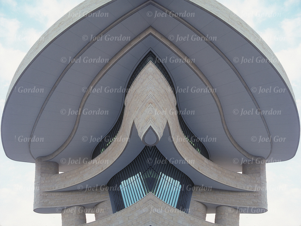 Mirror image of the National Museum of the American Indian buidling in Washington DC