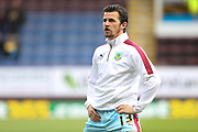 Joey Barton of Burnley warming up before the Sky Bet Championship match between Burnley and Cardiff City at Turf Moor, Burnley, England on 5 April 2016. Photo by Simon Brady.