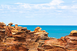 Brilliant colours in the sandstone at Gantheume Point in Broome
