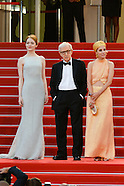 Woody Allen on the Red carpet of Festival Film of Cannes