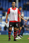 Southampton midfielder Oriol Romeu (14) warming up during the Premier League match between Everton and Southampton at Goodison Park, Liverpool, England on 18 August 2018.