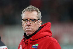 26.02.2016, Rhein Energie Stadion, Koeln, GER, 1. FBL, 1. FC Koeln vs Hertha BSC, 23. Runde, im Bild vl. Peter Stoeger (Trainer, Cheftrainer, Coach, Koeln, #PS) // during the German Bundesliga 23th round match between 1. FC Cologne and Hertha BSC at the Rhein Energie Stadion in Koeln, Germany on 2016/02/26. EXPA Pictures © 2016, PhotoCredit: EXPA/ Eibner-Pressefoto/ Horn<br /> <br /> *****ATTENTION - OUT of GER*****
