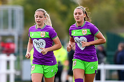 Poppy Pattinson of Bristol City and Ella Rutherford of Bristol City - Mandatory by-line: Ryan Hiscott/JMP - 14/10/2018 - FOOTBALL - Stoke Gifford Stadium - Bristol, England - Bristol City Women v Birmingham City Women - FA Women's Super League 1