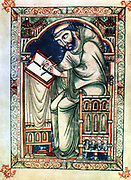 Eadwine the Scribe. From Psalter written at Christ Church, Canterbury about middle of 12th century by Eadwine, a monk of the house.