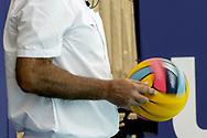 ROU-SVK  Roumania (white caps) vs. Slovakia (blue caps) <br /> Barcelona 18/07/2018 Piscines Bernat Picornell <br /> Men qualification<br /> 33rd LEN European Water Polo Championships - Barcelona 2018 <br /> Photo Giorgio Scala/Deepbluemedia/Insidefoto