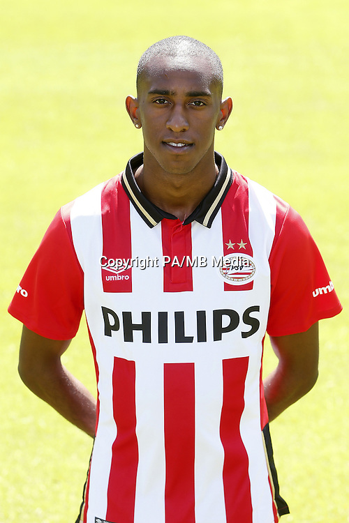 Joshua Brenet during the team presentation of PSV Eindhoven on July 6, 2015 at the Herdgang in Eindhoven, The Netherlands.