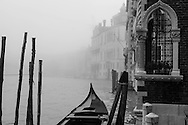 Italy. Venice. the grand canal in the fog  Venice - Italy  / le grand canal dans la brume  Venise - Italie  A