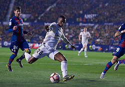 February 24, 2019 - Valencia, U.S. - VALENCIA, SPAIN - FEBRUARY 24: Vinicius Junior, forward of Real Madrid CF with the ball during the La Liga match between Levante UD and Real Madrid CF at Ciutat de Valencia stadium on February 24, 2019 in Valencia, Spain. (Photo by Carlos Sanchez Martinez/Icon Sportswire) (Credit Image: © Carlos Sanchez Martinez/Icon SMI via ZUMA Press)