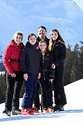 Fotosessie met de koninklijke familie in Lech /// Photoshoot with the Dutch royal family in Lech .<br /> <br /> Op de foto/ On the photo: Prins Constantijn en Prinses Laurentien en hun kinderen gravin Eloise, graaf Claus-Casimir en gravin Leonore, /////  Prince Constantine and Princess Laurentien and their children Countess Eloise, Count Claus-Casimir and Countess Leonore