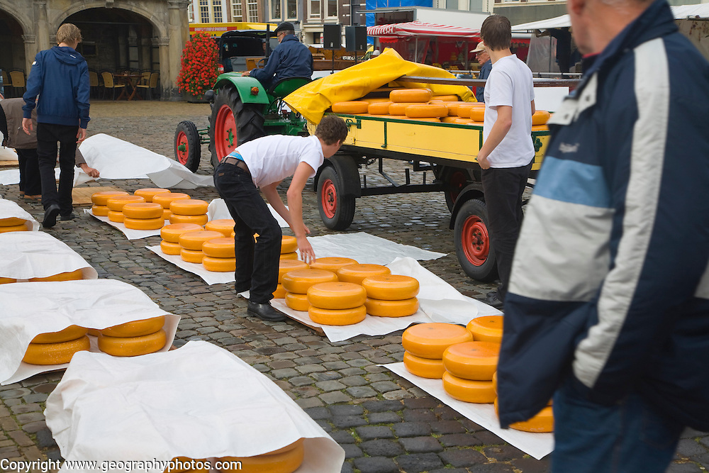 Gouda and cheese market, South Holland, Netherlands,