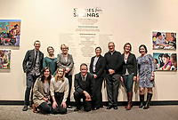 Organizers of the Stories from Salinas exhibition at the show's December 5th, 2017 opening at the CSUMB Salinas Center for Arts and Culture in Oldtown. The exhibition celebrates the mentors, youth and families of the Salinas Youth Initiative.