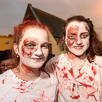 REPRO FREE<br /> Sophie Curtin and Meadhbh Kiely from Innishannon pictured at this years Kinsale Halloween parade.<br /> Picture. John Allen