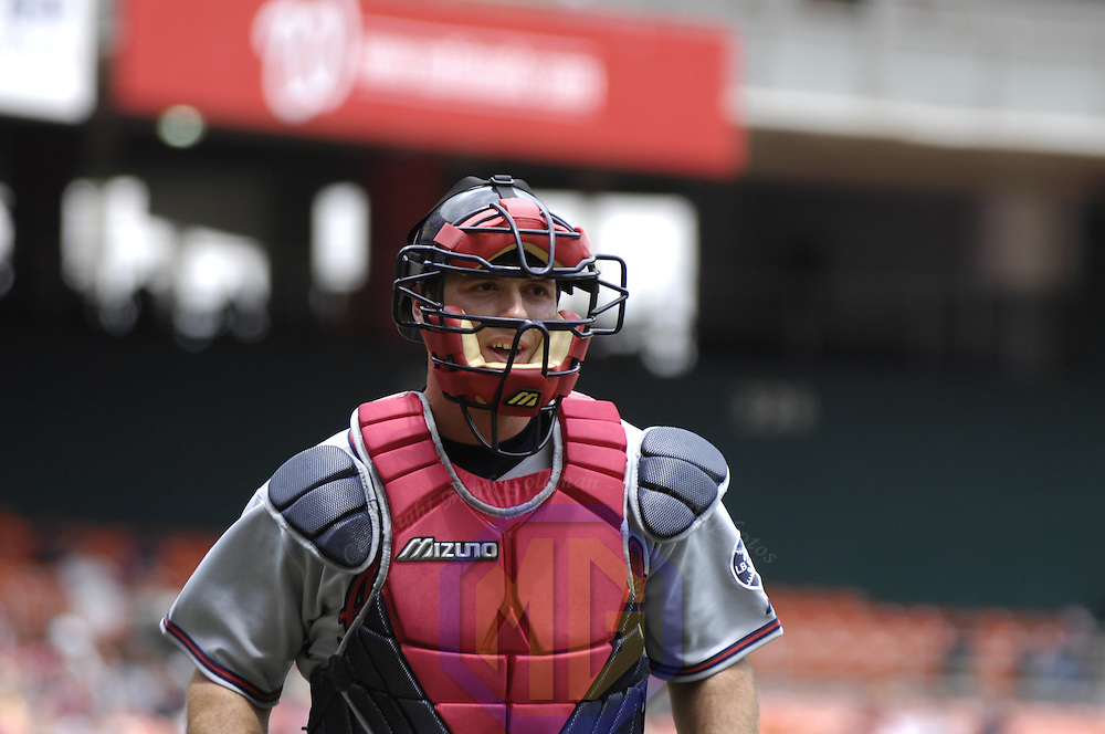 17 May 2006:  Atlanta Braves catcher Jarrod Saltalamacchia (18) in action against the Washington Nationals. The Nationals defeated the Braves 4-3 at RFK Stadium in Washington, D.C.