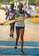 NELSPRUIT, SOUTH AFRICA - NOVEMBER 04: Kesa Molotsane of Free State Athletics wins the women's race in 33:38 during the ASA 10km Championships on Saturday November 04, 2017 in Nelspruit, South Africa. <br /> (Photo by Roger Sedres/ImageSA/Gallo Images)