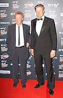 Denis Law & Peter Schmeichel, BT Sport Industry Awards 2014, Battersea Evolution, London UK, 08 May 2014, Photo by Brett D. Cove