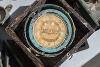 Antique ship's compas in a box